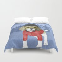 beagle Duvet Covers featuring Beagle by Barruf