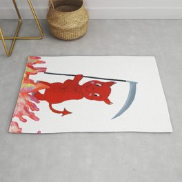 Baby Devil in the Flames Rug