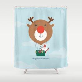 Air Rudolph Shower Curtain