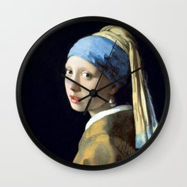 Johannes Vermeer Girl with a Pearl Earring Wall Clock