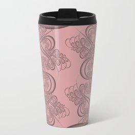 Bridal Rose Fractal Travel Mug
