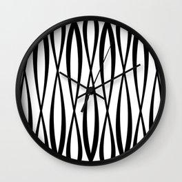 Background of seamless geometric pattern Wall Clock
