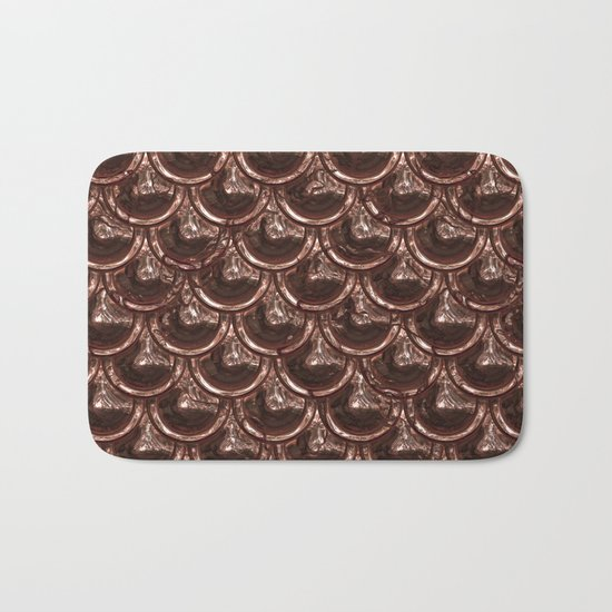 Precious copper scales Bath Mat