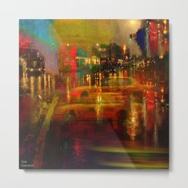 The yellow city of taxis Metal Print