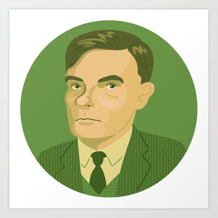 Queer Portrait - Alan Turing Art Print