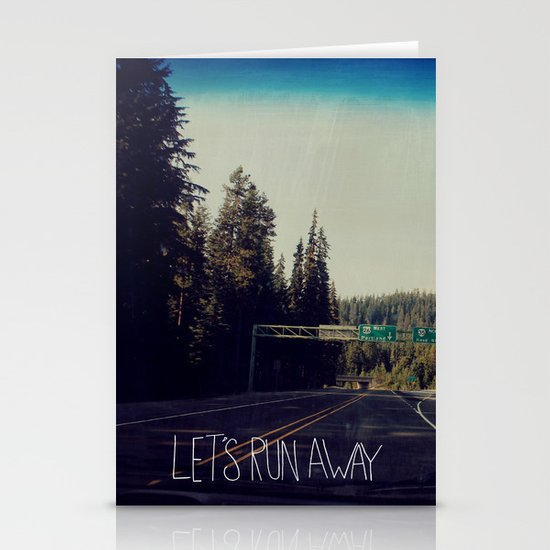 Let's Run Away IV Stationery Cards