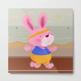 Bunny Runner Metal Print