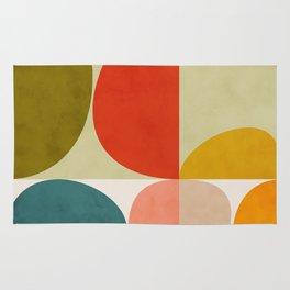 shapes of mid century geometry art Rug