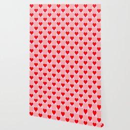 love heart pattern Wallpaper