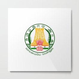flag of Tamil Nadu Metal Print