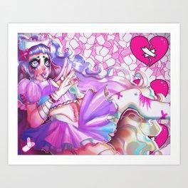 Menhera Nurse Art Print