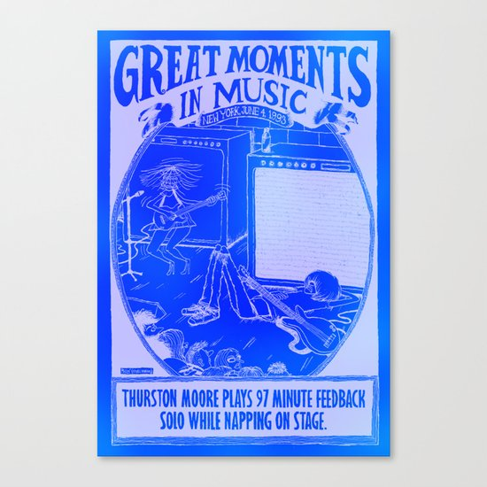 Great Moments In Music Canvas Print