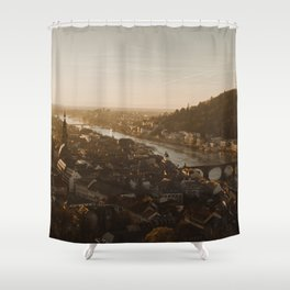 View of Heidelberg from above Shower Curtain