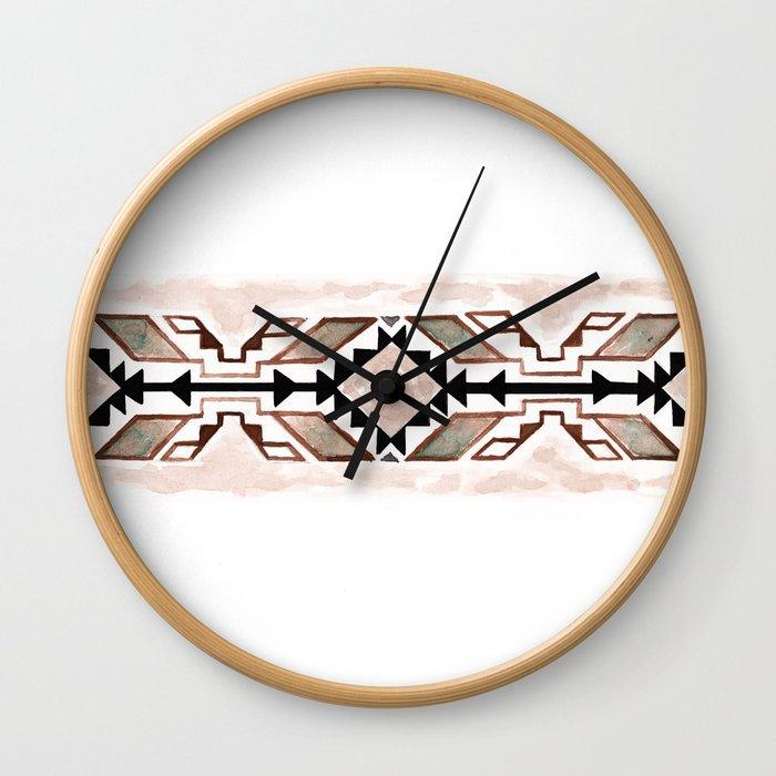 Geometry & Earth Pattern Wall Clock