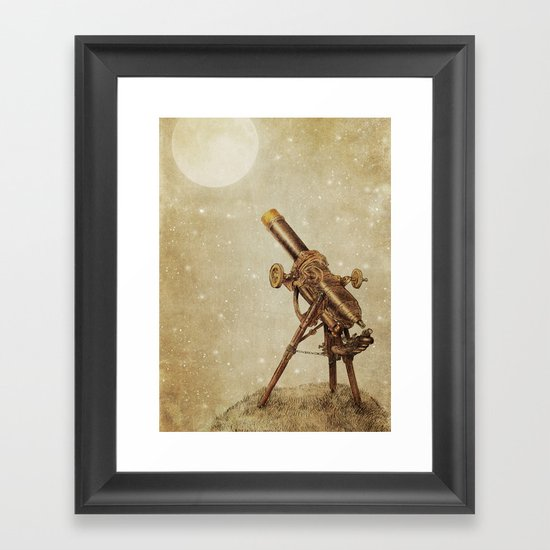 Moonrise (sepia option) Framed Art Print