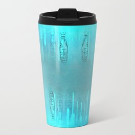 Teal Bottles Travel Mug