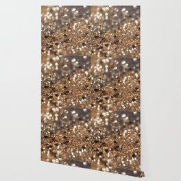 Gold Night Lady Glitter #1 #shiny #decor #art #society6 Wallpaper