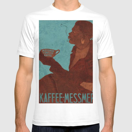 Vintage Red and Teal Turkish Coffee Woman with Cigarette T-shirt