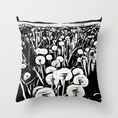 Black & White Field Throw Pillow