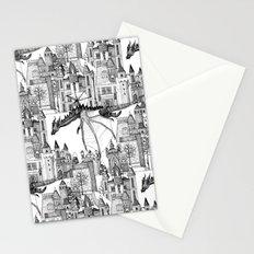Dragon Kingdom Winter Toile Stationery Cards