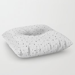 Constellations (White) Floor Pillow