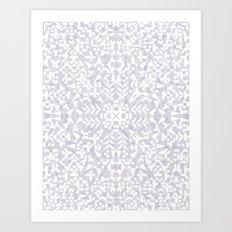 Makai Geo White Art Print