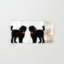 Black Labradoodle dog Hand & Bath Towel