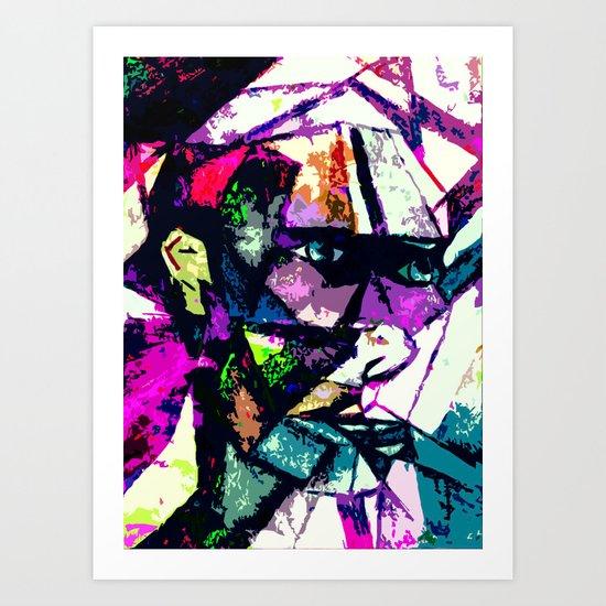 mixing men  Art Print
