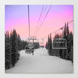 Ski Lift Sunset Shot on iPhone 4 Canvas Print