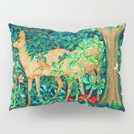 Art Nouveau Forest Deer Tapestry Print Pillow Sham