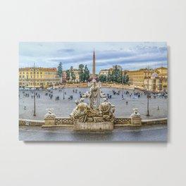 Piazza del Popolo, Rome, Italy Metal Print