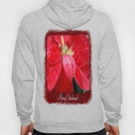 Mottled Red Poinsettia 2 Merry Christmas P5F1 Hoody