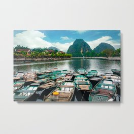 Tam Coc Vietnam Fine Art Print  • Travel Photography • Wall Art Metal Print