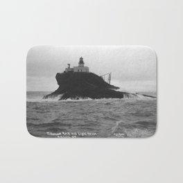 Vintage Photo of Tillamook Rock Lighthouse Bath Mat