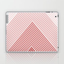 Shades of Red Abstract geometric pattern Laptop & iPad Skin