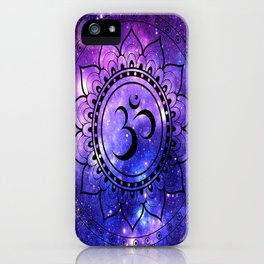 Om Mandala: Purple Blue Galaxy iPhone Case