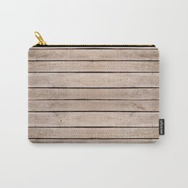 Weathered boards texture abstract Carry-All Pouch