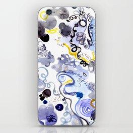Blue Frenzy iPhone Skin