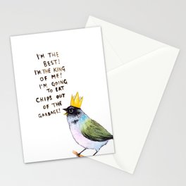 trash bird self affirmations Stationery Cards