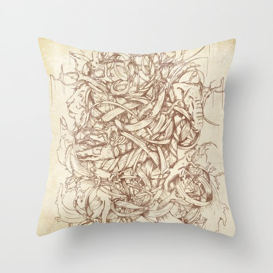 Water,Earth & Air   VACANCY zine   Throw Pillow