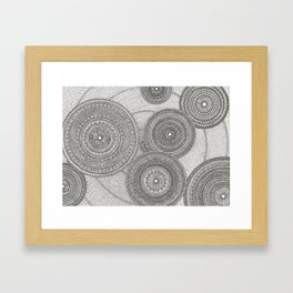 Circles in Pattern Framed Art Print