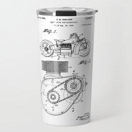 Motorcycle Patent Art Travel Mug