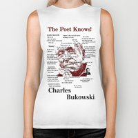 bukowski Biker Tanks featuring Charles Bukowski by brett66