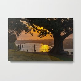 Sunset on Sydney Harbour, Observatory Hill Park, Sydney Metal Print
