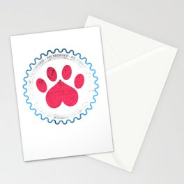 Pet Community Heart Print T-Shirt Stationery Cards
