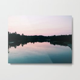 Last light at the Presumpscot River, ME Metal Print