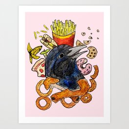 Bird no. 124: I Want It All Art Print