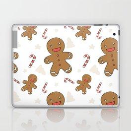 Cute gingerbread man seamless Laptop & iPad Skin