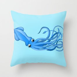 Nothing But a Squid Throw Pillow