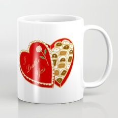 I Loathe You Vintage Valentine Heart Box Mug